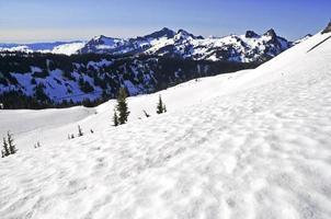 Alpine scene around Mount Rainier, North Cascades, Washington photo