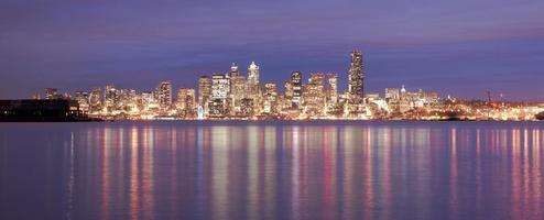 Downtown Seattle Skyline Elliott Bay Puget Sound Office Building photo