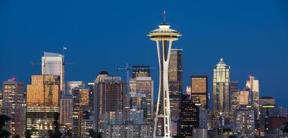 Downtown Seattle and Space Needle, Kerry Park, Seattle, Washington State