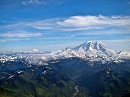 Mt Rainier Facing Mt Adams photo