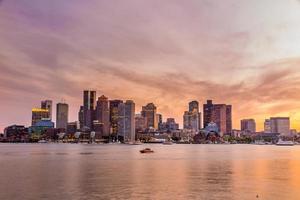 panorama del horizonte del centro de boston foto