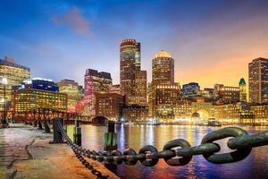 puerto de boston y distrito financiero foto