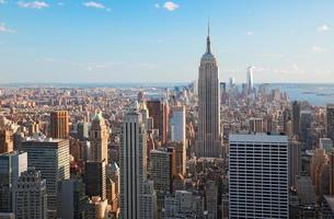 geweldige luchtfoto van Manhattan en Brooklyn