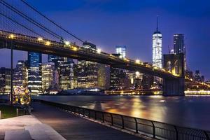 New York  City lights photo
