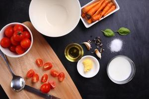 ingredients for tomatoes soup photo