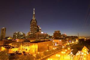 de skyline van Nashville