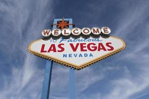 Las Vegas Welcome Sign with Cirrus Clouds
