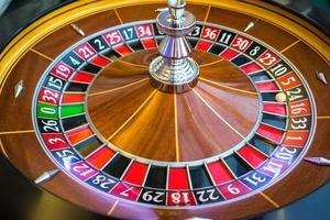 Roulette wheel in casino photo