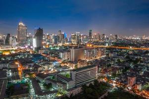 paisaje urbano de Bangkok foto