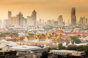 Sunrise at city of Bangkok, Thailand photo