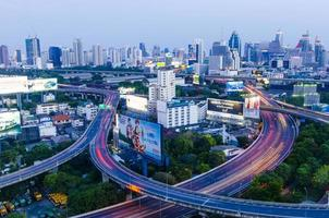 Bangkok paisaje urbano, metro, Tailandia