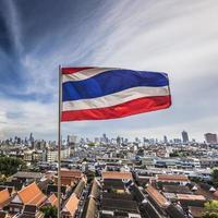Bangkok Cityscape capital of Thailand and beautiful sky photo