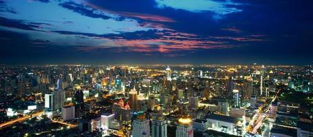 Bangkok view form Above photo