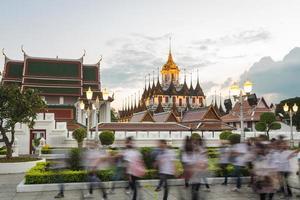 Temple rush in Bangkok