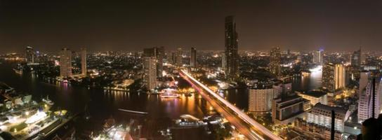 Long exposure with cityscape in Bangkok