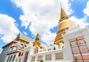 Golden pagoda in Bangkok, Thailand photo