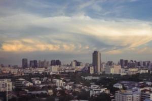 city blured photo