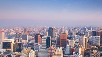 Cityscape van Bangkok in de ochtend