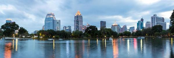 Bangkok's business district skyline