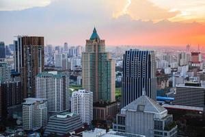 Bangkok skyline at dusk photo