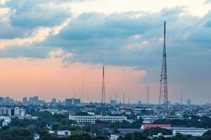 Sunset over Lower Bangkok