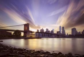 Brooklyn bridge sunset photo