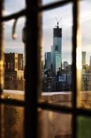 Lower Manhattan Skyline Afternoon Window