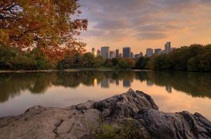 The lake in Central Park photo