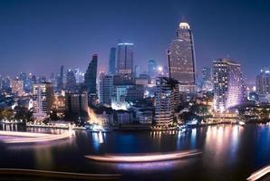 Bangkok City at night time photo