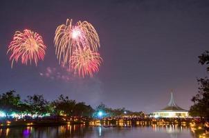fuegos artificiales en suan luang rama ix, bangkok