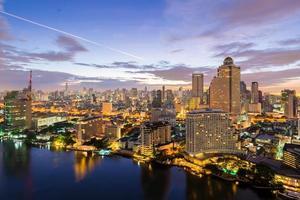 Bangkok beautiful sky in the morning photo