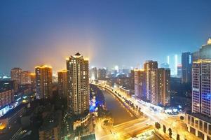 China Chengdu en la noche foto