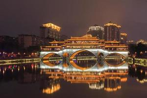 night lounge bridge at chengdu,china