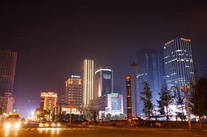 tianfu square,business center at chengdu,china.