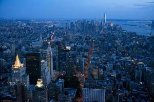 Manhattan de noche, Nueva York foto