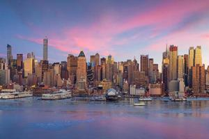 New York City with skyscrapers photo