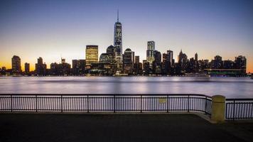 Manhattan skyline downtown photo