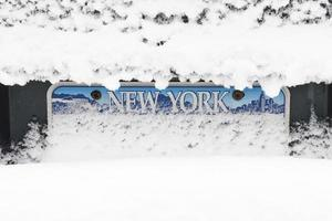 Snow Over License Plate photo