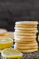 galleta de limón - vertical foto