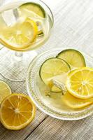 fresh iced juice with lemon
