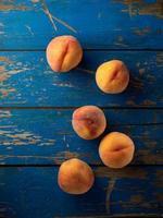 Organic peaches photo
