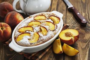 Pie with peaches photo