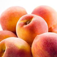 Peach isolated. Fruits macro photo