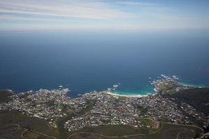 hermoso paisaje del mar en sudáfrica foto