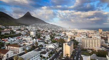 skyline urbana da cidade, cape town, áfrica do sul.