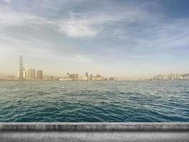 paisaje de la ciudad de hong kong