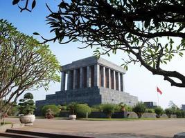 Ho Chi Minh Mausoleum, tourist attaction in Hanoi, Vietnam. photo