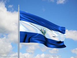 El Salvador 3d flag photo