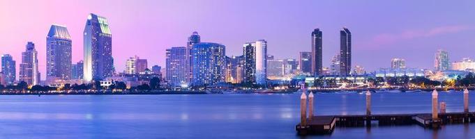 Paisaje urbano céntrico, ciudad de San Diego, California, EE.UU.