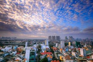 panorama de la ciudad de ho chi minh, saigon vietnam